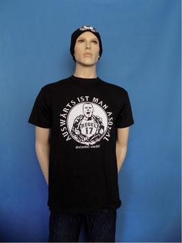 "Regel 17 ""Auswärts ist man asozial"" T-Shirt Schwarz"