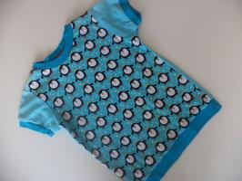 T-Shirt Pinguin mit türkis Gr.98/104