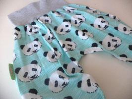 Pumphose Panda mint mit grau Gr.74/80