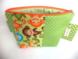 Täschchen Knallbunte Affen mit grün im Mustermix