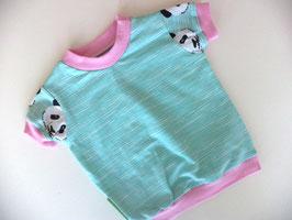 T-Shirt Panda rosa 2 Gr.62/68