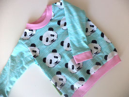 Langarmshirt Panda rosa Gr.74/80
