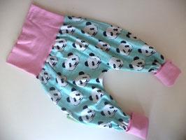 Pumphose Panda mint mit rosa Gr.56/62