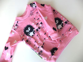 Langarmshirt Igel rosa Gr.86/92