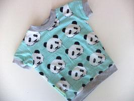 T-Shirt Panda mit grau Gr.98/104