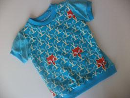 T-Shirt Fuchs türkis Gr.86/92