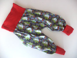 Pumphose Pinguine grün mit rot Gr. 98/104