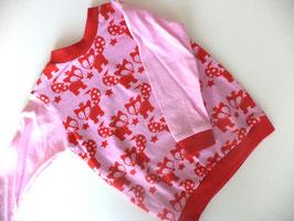 Langarmshirt Füchse mit rosa Gr.74/80