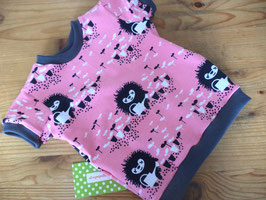 T-Shirt rosa Igel mit grau Gr.74/80
