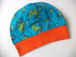 Beanie / Mütze Krokodil orange Gr.45-50cm