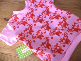 T-Shirt Fuchs rosa Gr.74/80