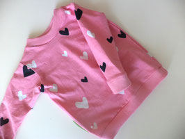 Langarmshirt Herzen rosa Gr.74/80