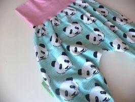 Pumphose Panda mint mit rosa Gr.86/92