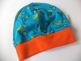 Beanie / Mütze Krokodil orange Gr.48-53cm