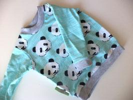Langarmshirt Panda grau Gr.74/80