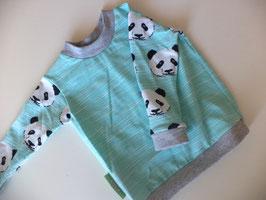Langarmshirt Panda mint Gr.62/68