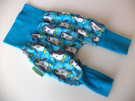 Pumphose Pinguine türkis Gr.86/92