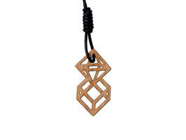 Oktahedron & Hexahedron Kettenanhänger