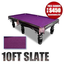 10FT LUXURY PURPLE FELT SLATE POOL/SNOOKER/BILLIARD TABLE!