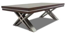 8FT PIERCE SLATE BILLARDS / SNOOKER TABLE W/ DINING TOP WALNUT