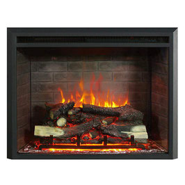 "BRAND NEW 2000W 33"" ELECTRIC FIREPLACE HEATER INSERT REALISTIC FLAME WOOD LOG"