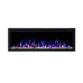 New 50 inch Recessed Wall Mounted Electric Fireplace Flame Effect Heater Woodlog