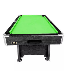 MODERN DESIGN! 7ft MDF Pool Table - Black / Green Felt | FREE DELIVERY!