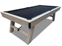 8FT MDF Pool / Billiards / Snooker Table Black Felt Silver Mist Frame Free Gift