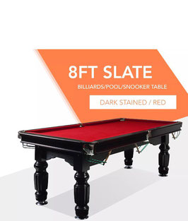 50% OFF!! 8FT Red Slate Solid Pool Table With Free Bonus Cues and Balls | FREE DELIVERY!