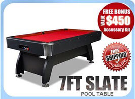 7ft Slate Pool/Snooker/Billiard Table Red | FREE DELIVERY!