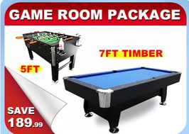 Game Room Package 5 FT Soccer + 7FT Pool Table | FREE DELIVERY!
