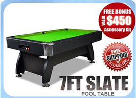 7ft Slate Pool/Snooker/Billiard Table Green | FREE DELIVERY! With Multi Function Air Hockey and Ping Pong Top!