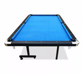 8ft Foldable MDF Pool Snooker Table Blue Felt With Free Accessories
