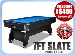 7ft Slate Pool/Snooker/Billiard Table Blue | FREE DELIVERY!