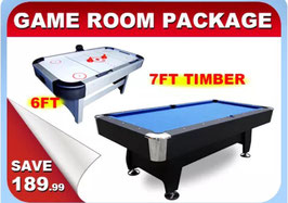 Game Room Package 6FT Air Hockey Table + 7FT Pool Table | FREE DELIVERY!