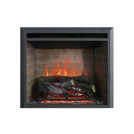 "BRAND NEW 2000W 23"" ELECTRIC FIREPLACE HEATER INSERT REALISTIC FLAME WOOD LOG"