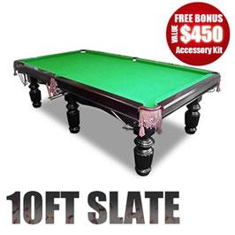 10FT LUXURY GREEN SLATE POOL/SNOOKER/BILLIARD TABLE!