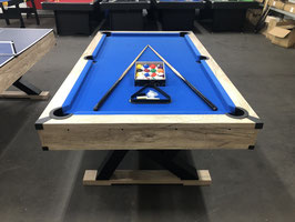 7 FOOT X-PRO SERIES POOL TABLE / DINING TABLE / TABLE TENNIS WITH BLUE FELT