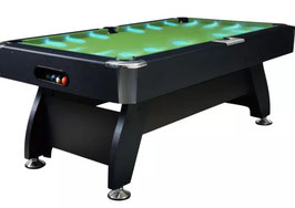50 % OFF **BRAND NEW!** Vivid Series Pool Table - Luxury 8FT MDF Billiard/Pool/Snooker Table (Green Felt/Black Frame) With Super Bright LED | FREE DELIVERY!