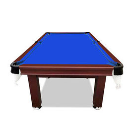 SMART SERIES 8FT MDF Blue Pool Table Snooker Billiards Square Leg Accessory Kit