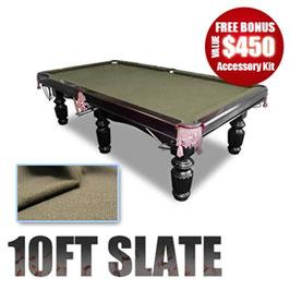 NEW! 10FT LUXURY COFFEE FELT SLATE POOL / SNOOKER / BILLIARD TABLE!!!