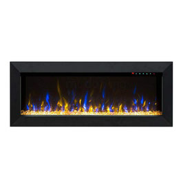 "New 1500W 45"" Built-in Wall Recessed Electric Fireplace Flame Effect Fire Heater"