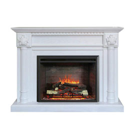 NEW 2000W ELECTRIC MANTEL FIREPLACE SUITE WITH REALISTIC FLAME EFFECT CLASSIC DESIGN
