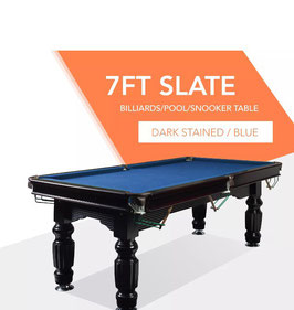 7ft Slate Solid Timber Pool Table Blue Felt Black Beam | FREE DELIVERY!