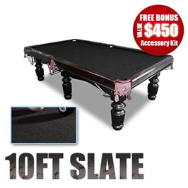 NEW! 10FT LUXURY BLACK FELT SLATE POOL / SNOOKER / BILLIARD TABLE!!!