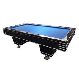 9FT Slate Korean Style Carom Pool / Billiards / Snooker Table Blue Felt