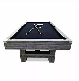 8FT MDF Pool Billiards Snooker Table Black Felt Silver Mist With Free Accessories