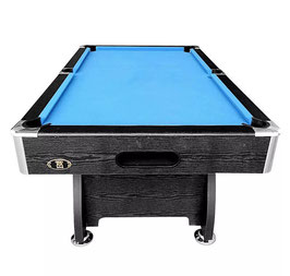 MODERN DESIGN! 7ft MDF Pool Table - Black / Blue Felt | FREE DELIVERY!