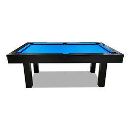 7ft Slate Black Frame Green/Blue/Red Felt Dining Pool Table