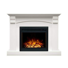 NEW WHITE 2000W ELECTRIC FIREPLACE WOOD MANTEL SUITE WITH FLAME EFFECT WOOD LOGS